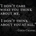 I don't care what you think about me