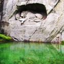 The Lion Monument At Lucerne, Switzerland