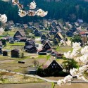 The village of Ogimachi, Shirakawa-mura, Gifu Prefecture, Japan