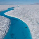 Amazing Blue Melt River, Petermann Glacier, Greenland