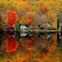 Beautiful autumn scenery in New Jersey, USA