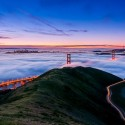 Foggy Dusk, The Golden Gate, San Francisco, USA