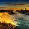 A Golden Sunset at Niagara Falls, Canada - USA