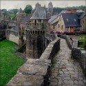 Castle Rampart , Fougeres , France