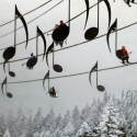 Musical Ski Lift Chairs , France