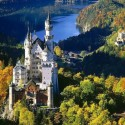 Neuschwanstein Castle in Bavaria , Germany