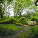 Sleeping Slinky at the Lost Gardens of Heligan , England