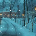 Snowy Lane , New Hope , Pennsylvania , USA