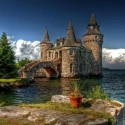 The Boldt Castle on Heart Island , New York , USA