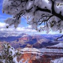 The Grand Canyon in Winter , USA
