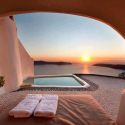 Wonderful View in Santorini , Greece