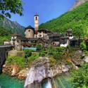 Beautiful village of Ticino lavertezzo , Switzerland