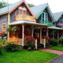 Cottage Houses, Oak Bluffs, Massachusetts, USA