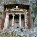 Fantastic Lycian rock tombs and ruins ,Fethiye, Turkey