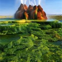 Green Fly Geyser, Nevada, USA