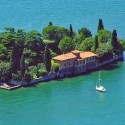 Isolated villa at Iseo Lake, Lombardy, Italy