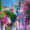 Tellaro Village in Liguria , Northern Italy
