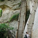 The most dangerous hike in the world , Mt. Huashan , China