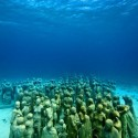 Underwater sculpture museum off the coast of Isla de Mujeres and Cancun, Mexico