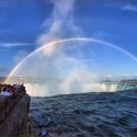 Wonderful Combination of Rainbow and Niagara Falls
