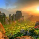 Sunrise at Meteora , Greece