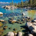 Beautiful Sand Harbor on Lake Tahoe , Nevada , USA