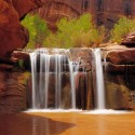 Waterfall in Coyote Gulch, Utah, USA