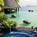 Jacuzzi and infinity pool in Bora Bora, French Polynesia