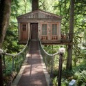 Treehouse Point, a treehouse bed and breakfast owned by Pete and Judy Nelson in Issaquah, WA