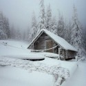 A Snow Covered Cabin