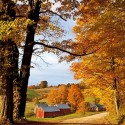 Autumn Farm in Vermont, USA