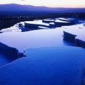 Blue Dusk, Natural Hot Springs, Pamukkale, Turkey