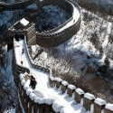 Snow covered Great Wall, China