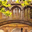 St Johns Bridge of Sighs punting summer, Cambridge University, England