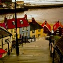 The 199 Steps in Whitby, England