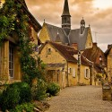 The streets of Montrésor, a small village in the Loire Valley in France