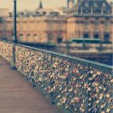 Love bridge, Paris, France