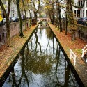 Nieuwe gracht, Autumn in Utrecht, The Netherlands