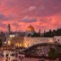 Sunset in Old City Jerusalem, Palestine