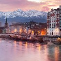 Grenoble at the foot of the French Alps, France