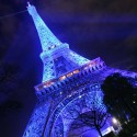 Lovely Blue Eiffel Tower, Paris, France