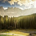 Lake of Carezza, Lago di Carezza, Dolomites, South Tyrol, Italy