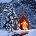 Yosemite Valley Chapel, Yosemite National Park, California, USA