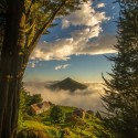 Cone in the Cloud, Otago Peninsula, Dunedin, New Zealand