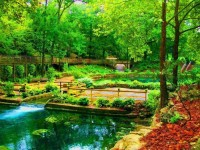 Blue Springs Heritage Center in Eureka Springs, Arkansas, USA