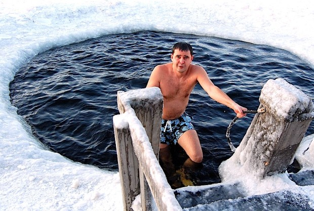 Ice Swimming With Walruses in Russia