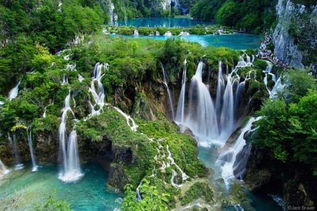 Impossible Waterfalls, Plitvice Lakes, National Park In Croatia