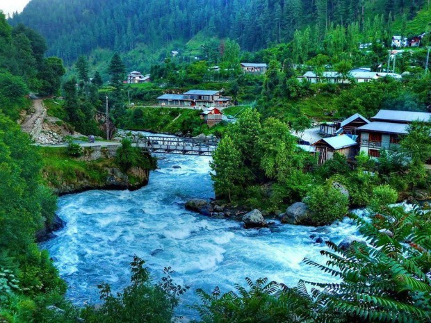 Jagran village in Neelum valley, Pakistan