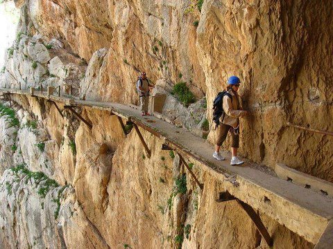 One of The Most Dangerous Walkway in the World El Caminito del Rey, Spain