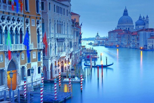 The Grand Canal and The Basilica of St Mary of Health, Venice, Italy
